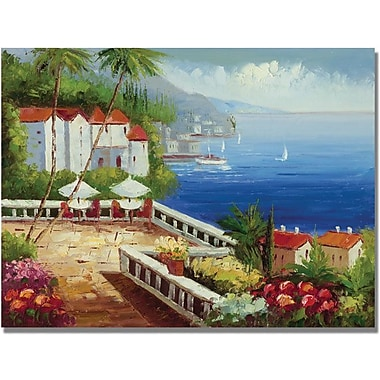 Trademark Global in.Mediterranean Viewin. Canvas Arts