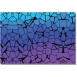 """Trademark Global """"Crystals of Blue and Purple"""" Canvas Art, 16"""" x 24"""""""