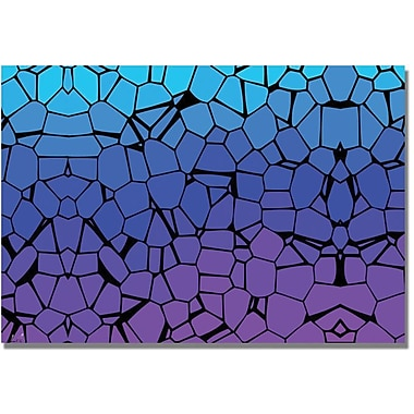 Trademark Global in.Crystals of Blue and Purplein. Canvas Art, 16in. x 24in.