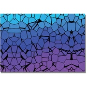"Trademark Global ""Crystals of Blue and Purple"" Canvas Art, 16"" x 24"""