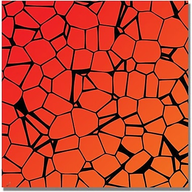 Trademark Global in.Crystals of Reds and Orangein. Canvas Art, 35in. x 35in.