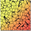 """Trademark Global """"Crystals of Yellow and Orange"""" Canvas Art, 18"""" x 18"""""""