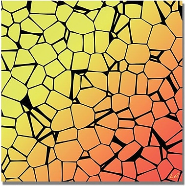 Trademark Global in.Crystals of Yellow and Orangein. Canvas Art, 18in. x 18in.
