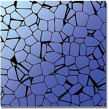 Trademark Global in.Crystals Bluesin. Canvas Art, 35in. x 35in.