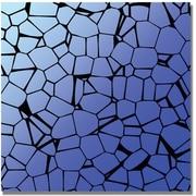 Trademark Global Crystals Blues Canvas Art, 35 x 35