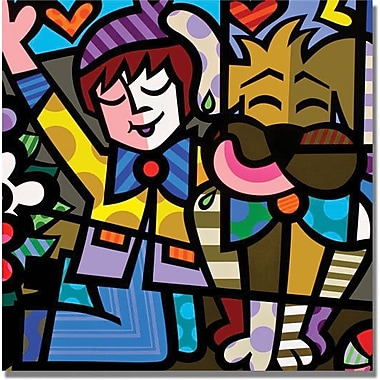 Trademark Global in.Best Friendsin. Canvas Art, 18in. x 18in.