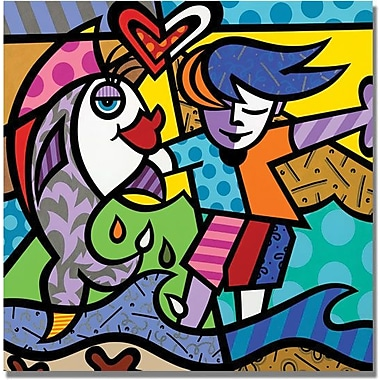 Trademark Global in.Boy and a Fishin. Canvas Art, 35in. x 35in.