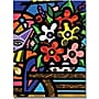 Trademark Global Cat with Flowers Canvas Art, 32
