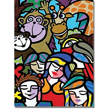 Trademark Global in.Day at the Zooin. Canvas Art, 47in. x 35in.