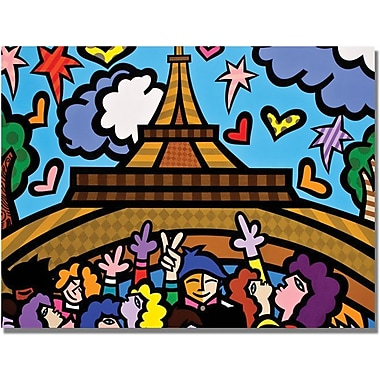 Trademark Global in.Eiffel Towerin. Canvas Art, 18in. x 24in.
