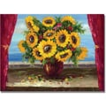 Trademark Global Antonio in.Sunflowers by the Windowin. Canvas Art, 35in. x 47in.