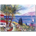 Trademark Global Manor Shadian in.Villa in Mauiin. Canvas Art, 30in. x 47in.