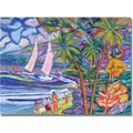 Trademark Global Manor Shadian in.Maui Surfin. Canvas Art, 24in. x 32in.