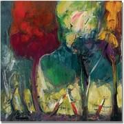 "Trademark Global Boyer ""Aquas Rojas"" Canvas Art, 35"" x 35"""