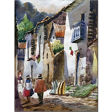 Trademark Global Jimenez in.Cuzco IIIin. Canvas Art, 32in. x 24in.