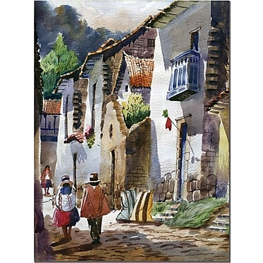 Trademark Global Jimenez in.Cuzco IIIin. Canvas Art, 47in. x 35in.