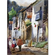 "Trademark Global Jimenez ""Cuzco III"" Canvas Art, 47"" x 35"""