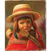 "Trademark Global Jimenez ""Nino Andino"" Canvas Art, 19"" x 14"""