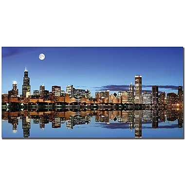 Trademark Global Yakov Agani in.Chicago, ILin. Canvas Art, 24in. x 47in.