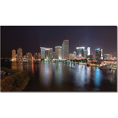 Trademark Global Yakov Agani in.Miami, FLin. Canvas Art, 14in. x 19in.