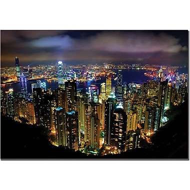 Trademark Global Yakov Agani in.Hong Kong Chinain. Canvas Art, 30in. x 47in.