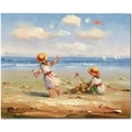 Trademark Global in.At the Beach Iin. Canvas Art, 26in. x 32in.