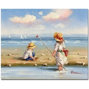 "Trademark Global ""At the Beach III"" Canvas Art, 26"" x 32"""