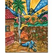 "Trademark Global Duran ""Descando Mutatino"" Canvas Art, 32"" x 26"""