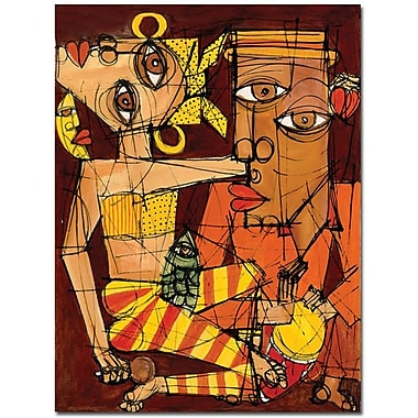 Trademark Global Dieguez in.La Luna esta de Fiestain. Canvas Art, 32in. x 24in.