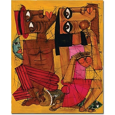 Trademark Global Dieguez in.Al Ritmo de tu Corazonin. Canvas Art, 32in. x 26in.