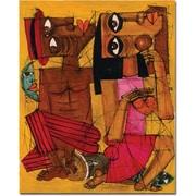"Trademark Global Dieguez ""Al Ritmo de tu Corazon"" Canvas Art, 32"" x 26"""