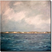 "Trademark Global Michelle Calkins ""Dunes of Lake Michigan with Big Sky"" Canvas Art, 35"" x 35"""