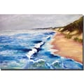 Trademark Global Michelle Calkins in.Lake Michigan Beach with Whitecaps Iin. Canvas Art, 18in. x 24in.
