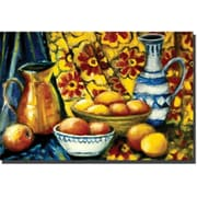 "Trademark Global Michelle Calkins ""Still Life with Oranges"" Canvas Art, 30"" x 47"""
