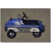 "Trademark Global Michelle Calkins ""Highway Patrol Pedal Car"" Canvas Art, 16"" x 24"""