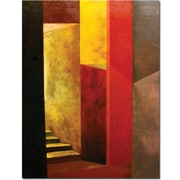 "Trademark Global Michelle Calkins ""Mystery Stairwell"" Canvas Art, 47"" x 35"""