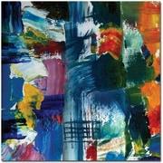 "Trademark Global Michelle Calkins ""Color Relationships II"" Canvas Art, 18"" x 18"""