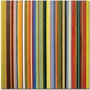 "Trademark Global Michelle Calkins ""Comfortable Stripes"" Canvas Art, 18"" x 18"""