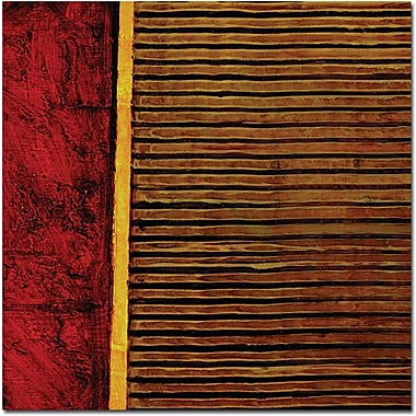 Trademark Global Michelle Calkins in.Red and Green Rusticin. Canvas Arts