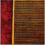 """Trademark Global Michelle Calkins """"Red and Green Rustic"""" Canvas Art, 18"""" x 18"""""""