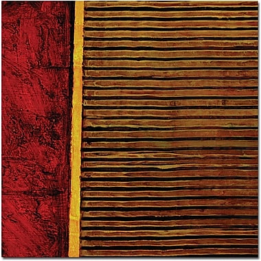 Trademark Global Michelle Calkins in.Red and Green Rusticin. Canvas Art, 24in. x 24in.