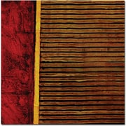 """Trademark Global Michelle Calkins """"Red and Green Rustic"""" Canvas Art, 24"""" x 24"""""""
