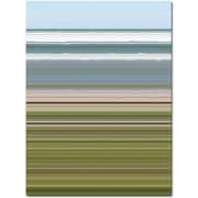 """Trademark Global Michelle Calkins """"Sky Water Beach Grass"""" Canvas Art, 24"""" x 18"""""""