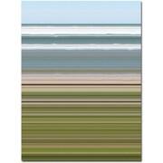"""Trademark Global Michelle Calkins """"Sky Water Beach Grass"""" Canvas Art, 32"""" x 24"""""""
