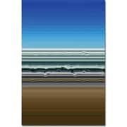 "Trademark Global Michelle Calkins ""Sky Water Sand"" Canvas Art, 24"" x 16"""