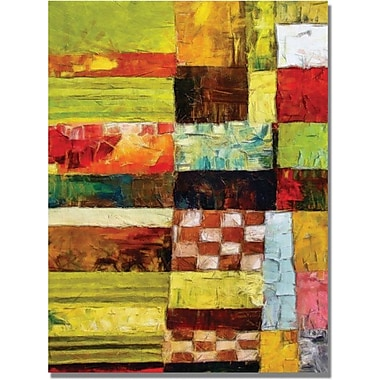 Trademark Global Michelle Calkins in.Checkers and Stripesin. Canvas Art, 24in. x 18in.