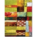 Trademark Global Michelle Calkins in.Checkers and Stripesin. Canvas Art, 47in. x 35in.