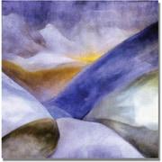 "Trademark Global Michelle Calkins ""Mountains Landscape"" Canvas Art, 18"" x 18"""
