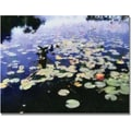 Trademark Global Michelle Calkins in.Water Lilies in the River IIin. Canvas Arts
