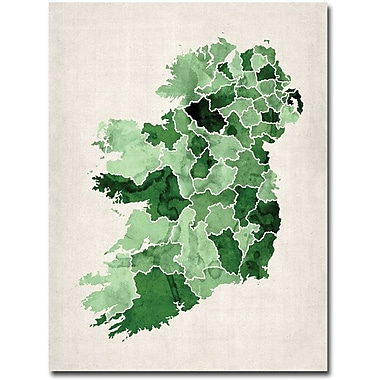 Trademark Global Michael Tompsett in.Ireland Watercolorin. Canvas Art, 24in. x 18in.